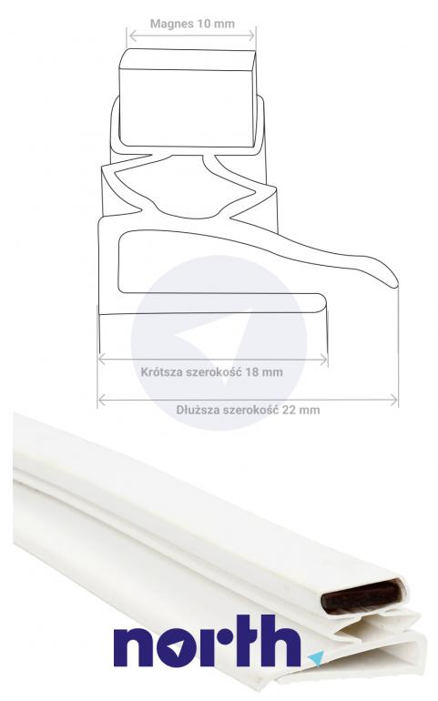 Uniwersalna uszczelka 130x70cm + klej do lodówki,4