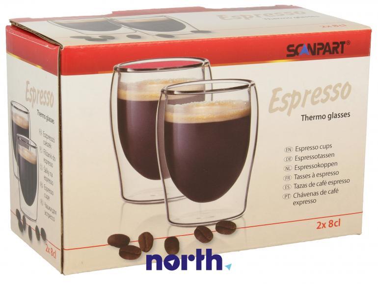 Szklanki termiczne do kawy 80ml espresso SCANPART 2790000074,0