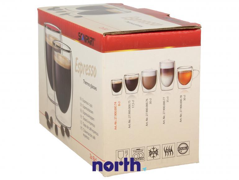 Szklanki termiczne do kawy 80ml espresso SCANPART 2790000074,1