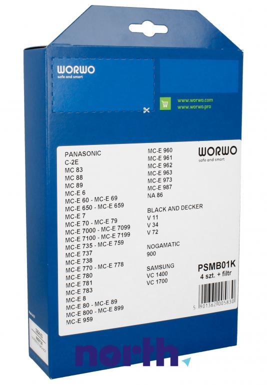 Worki PSMB01K 4szt. do odkurzacza Panasonic,1