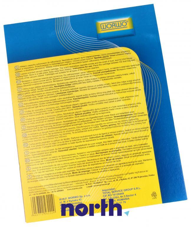 Wkład zapachowy cytrynowy 2szt. WZ01 do odkurzacza,1