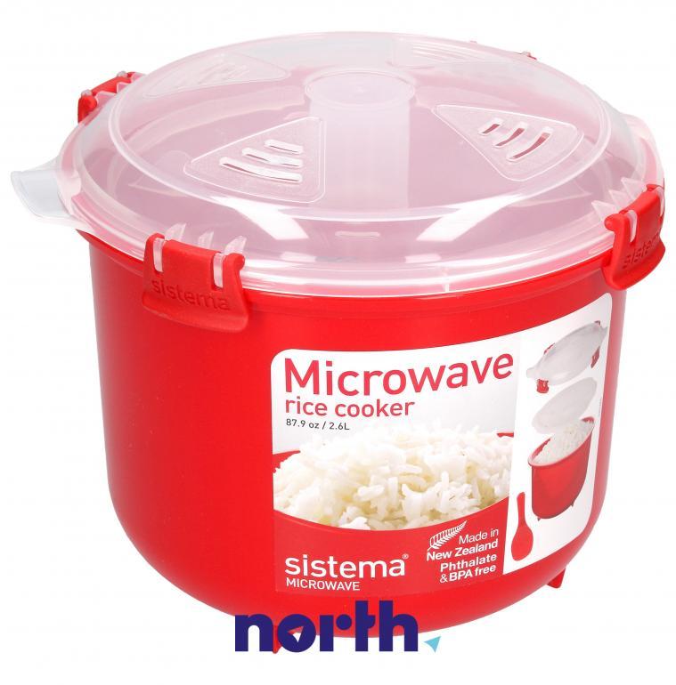 Naczynie do gotowania ryżu do mikrofalówki 2.6 l SISTEMA,0