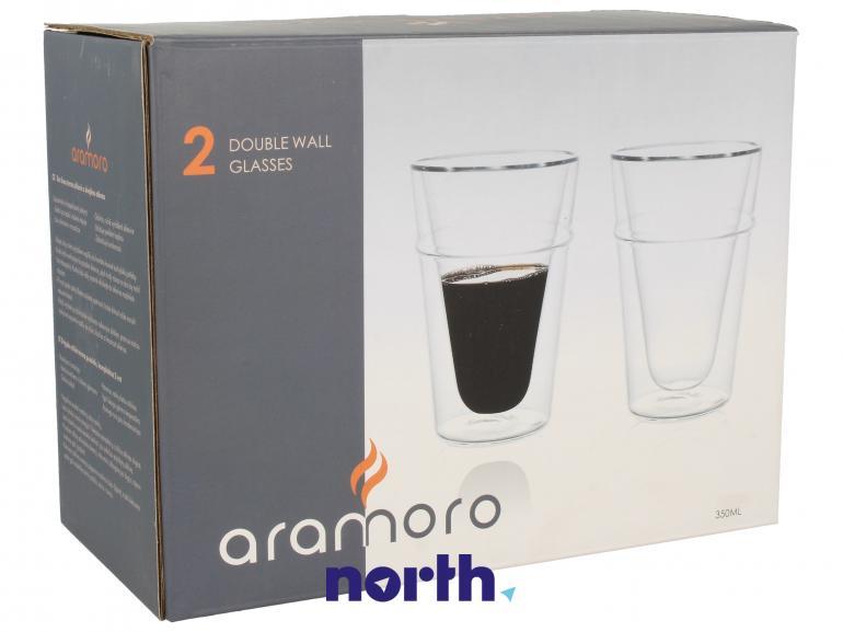Szklanki termiczne do kawy 2szt. ARAMORO,0