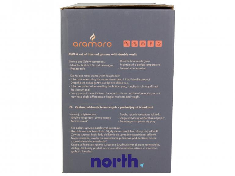 Szklanki termiczne do kawy 2szt. ARAMORO,1
