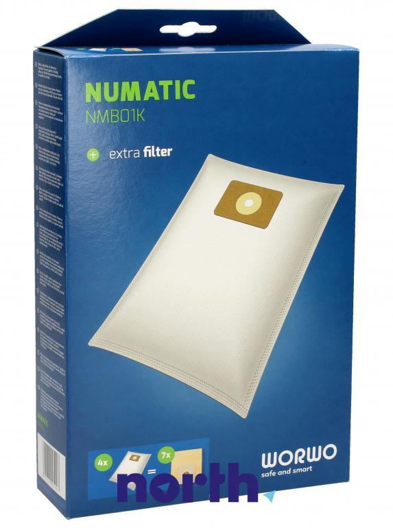 Worki NMB01K 4szt. do odkurzacza Numatic,0