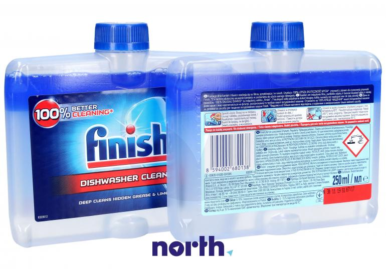 Płyn czyszczący 2szt. Finish Regular 250ml do zmywarki,1