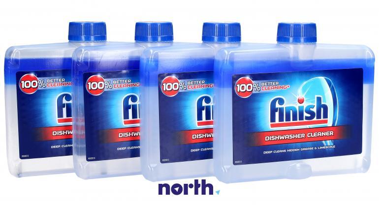 Płyn czyszczący 4szt. Finish Regular 250ml do zmywarki,0