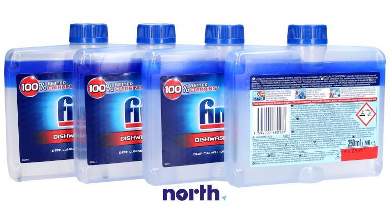 Płyn czyszczący 4szt. Finish Regular 250ml do zmywarki,1