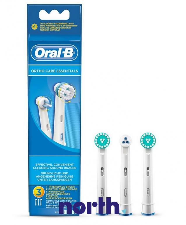 Końcówki Ortho Care Essentials (3szt.) do szczoteczki do zębów Oral-B EB-KIT 64711704,0