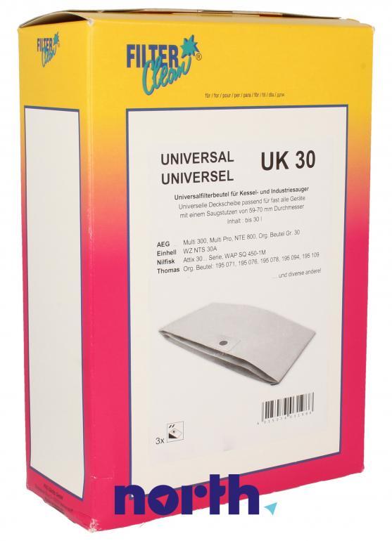 Worki UK30 3szt. do odkurzacza Karcher,0