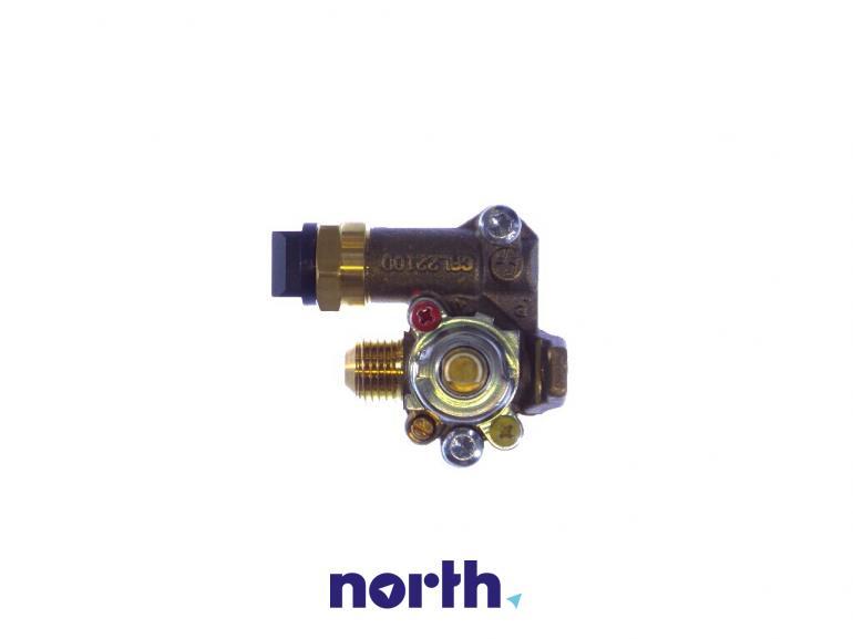 Zawór palnika średniego do płyty gazowej Indesit 482000028509,0