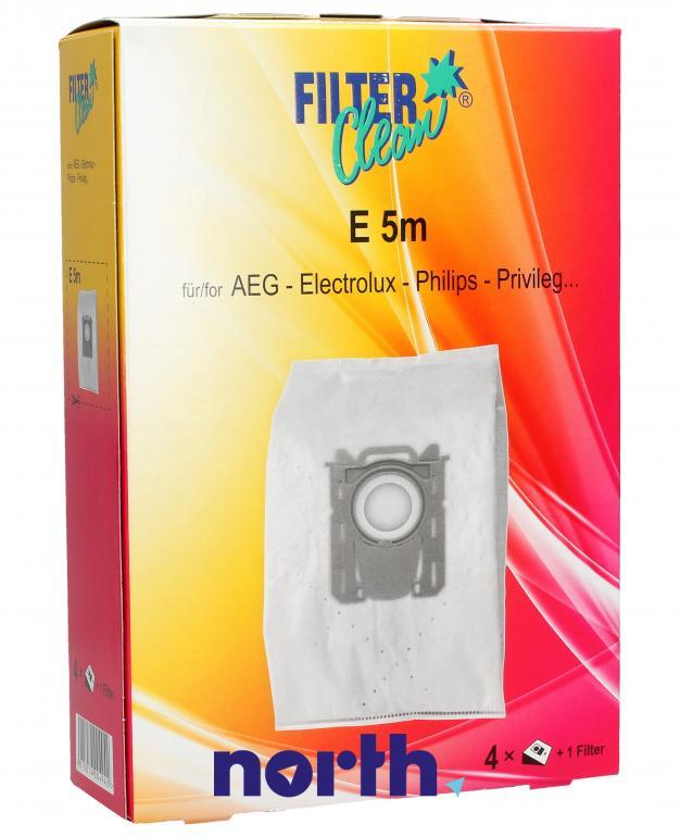 Worki S-Bag E5m 4szt. do odkurzacza Electrolux,0