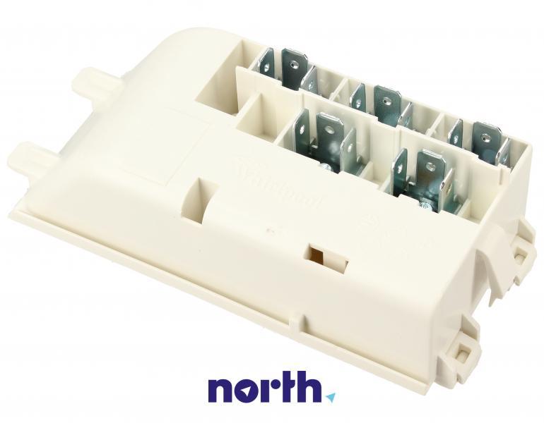 Kostka przyłączeniowa kabla zasilającego do płyty ceramicznej Whirlpool 481229068293,1