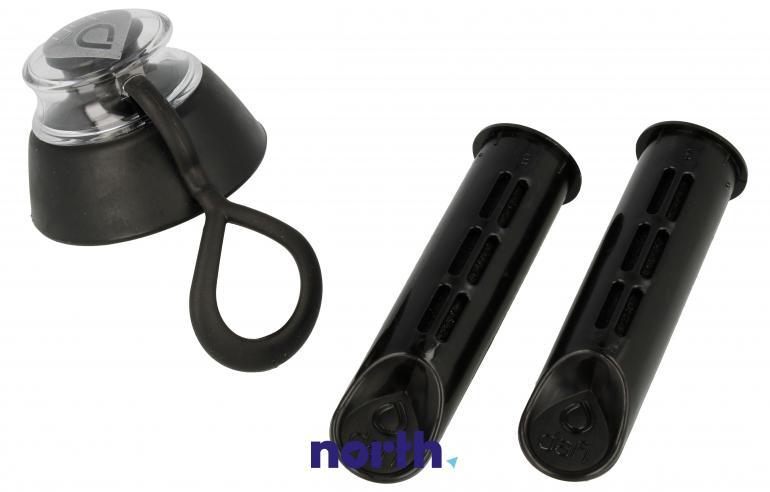 Filtry z nakrętką do butelki filtrującej DAFI + nakrętka czarny,3