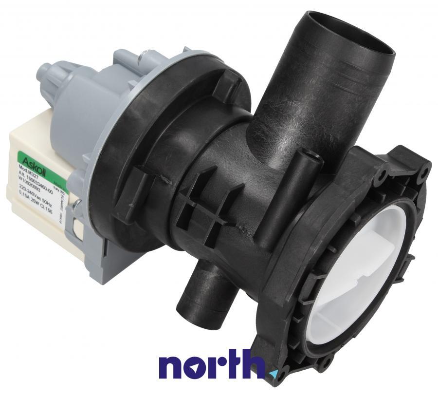 Pompa odpływowa kompletna (silnik + obudowa) do pralki Whirlpool 488000517420,0