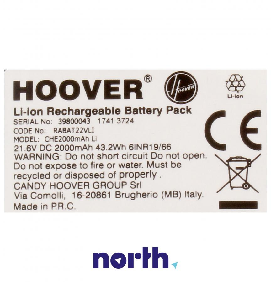 Akumulator 21.6V 2000mAh do odkurzacza Hoover RABAT22VLI 39800043,3