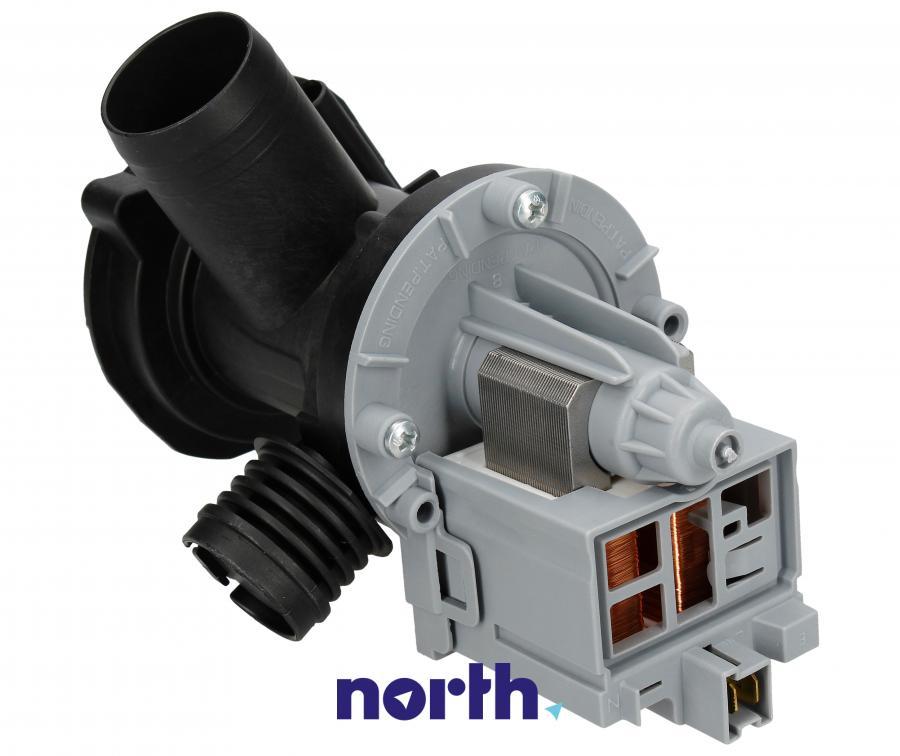 Pompa odpływowa kompletna (silnik + obudowa) do pralki Indesit,1