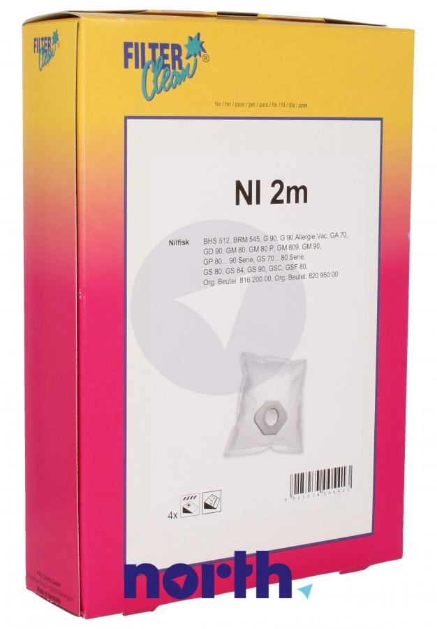 Worki NI2M 4szt. do odkurzacza Nilfisk,0