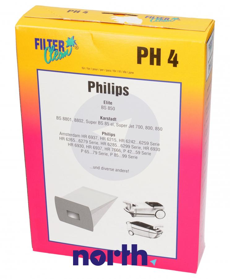Worki PH4 6szt. do odkurzacza Philips,0