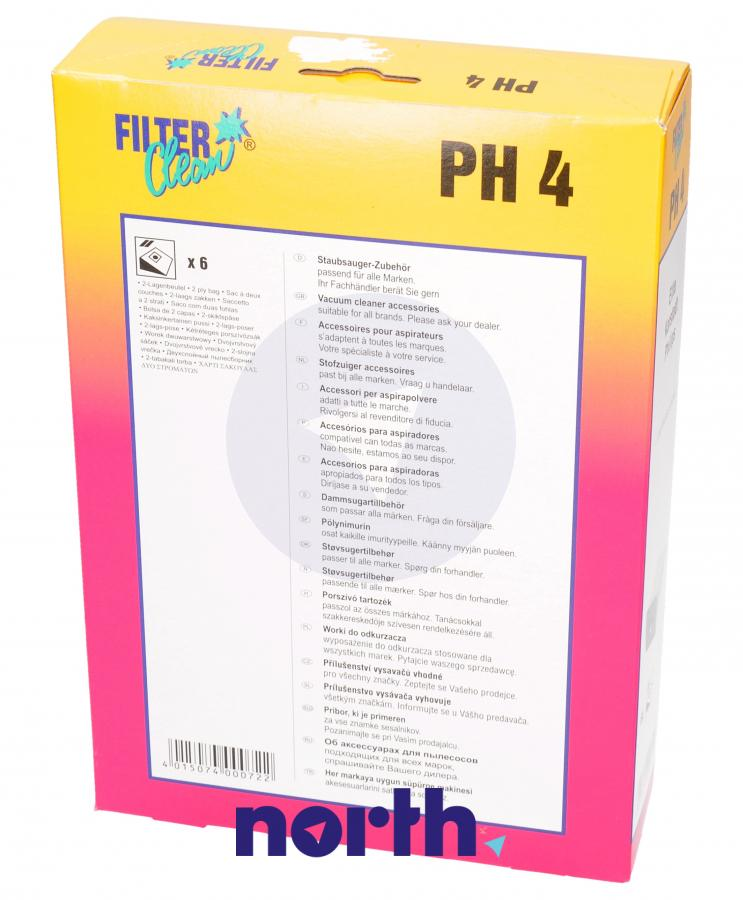 Worki PH4 6szt. do odkurzacza Philips,1