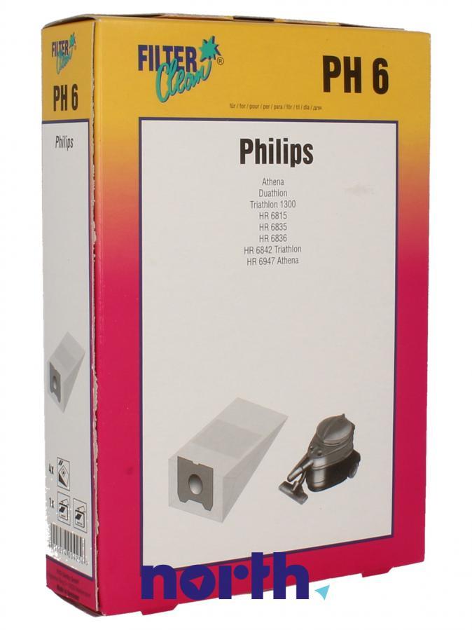 Worki PH6 4szt. do odkurzacza Philips,0