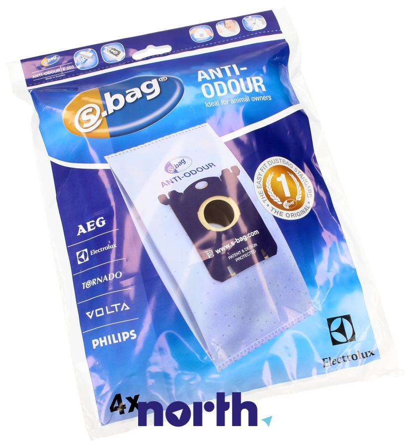 Worki S-Bag Anti-Odour E203 4szt. do odkurzacza Electrolux,0
