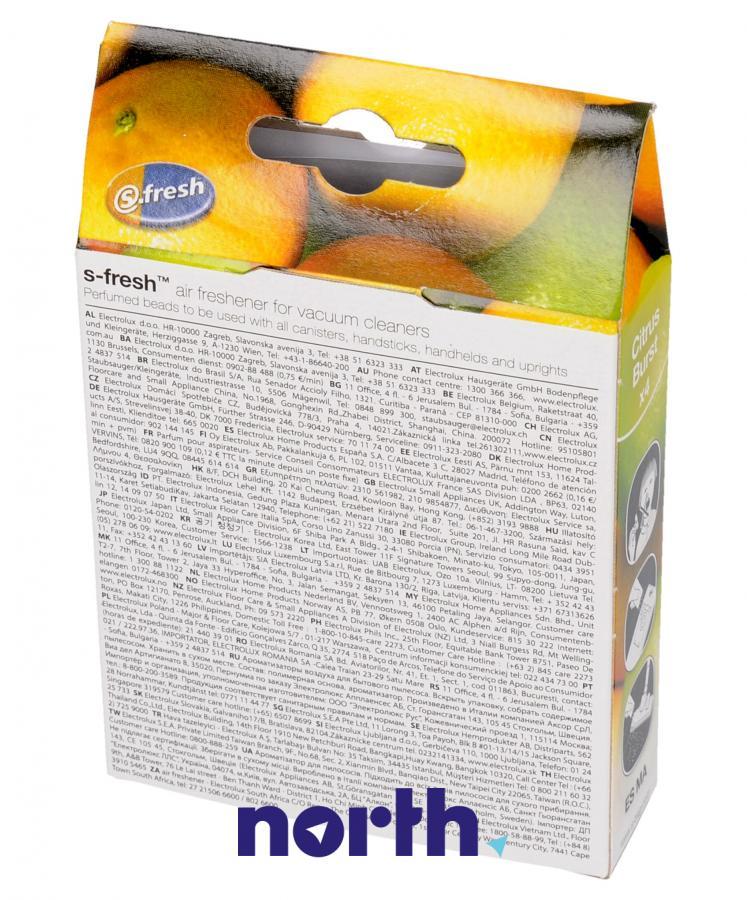 Wkład zapachowy cytrynowy 4szt. S.fresh ZE211 do odkurzacza,1