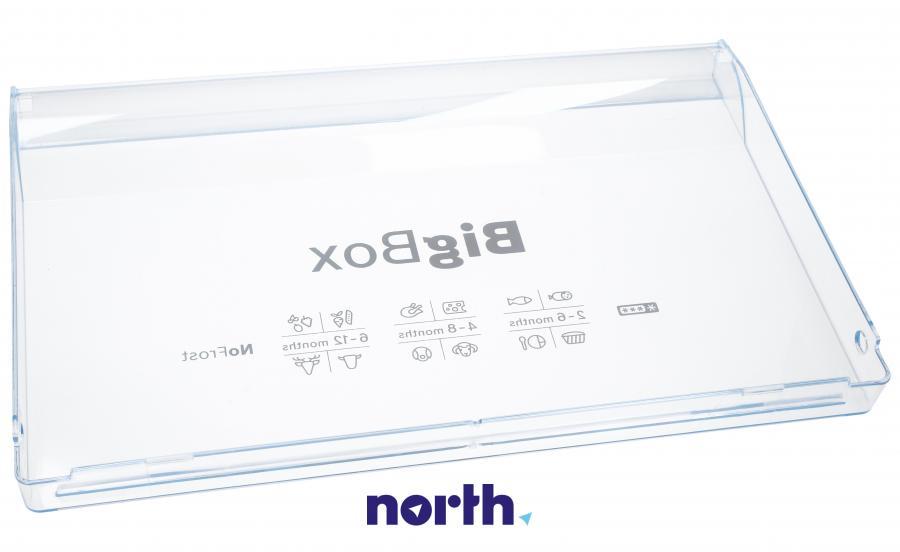 Front górnej szuflady zamrażarki do lodówki Bosch 00744752,1