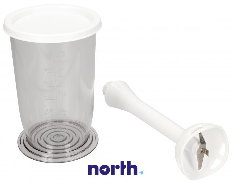 Pojemnik z pokrywą i nasadką miksującą blendera do miksera ręcznego BOSCH/SIEMENS 00573421,0