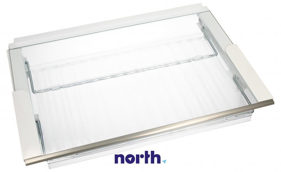 Półka szklana z ramkami do komory chłodziarki do lodówki Siemens 00687884,0