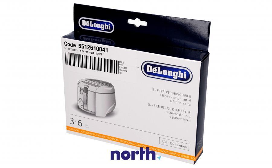 Filtry oleju do frytkownicy DeLonghi 5512510041,2