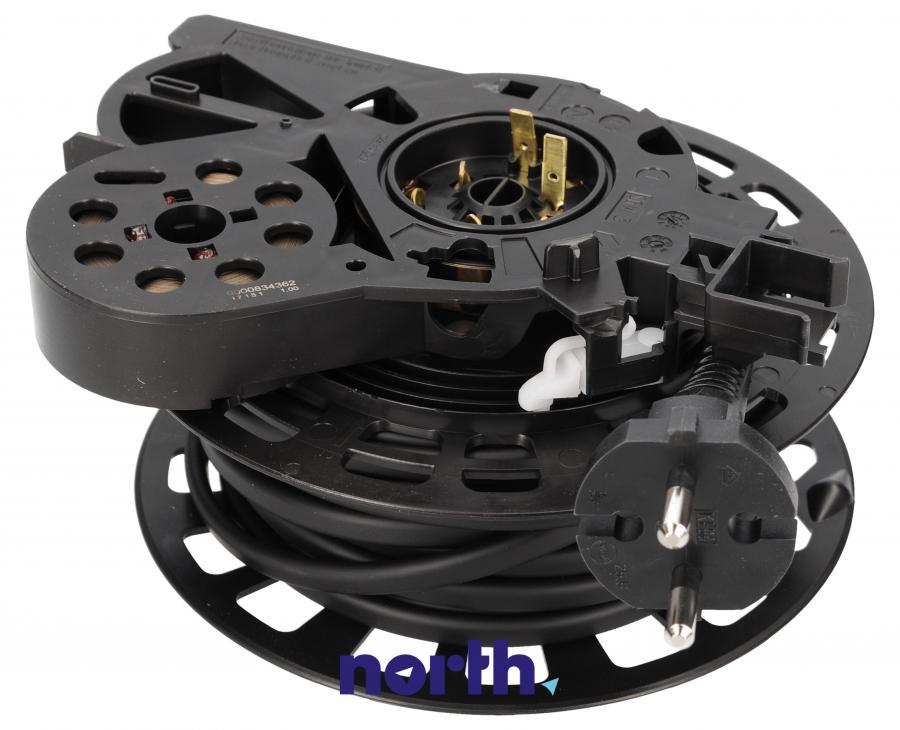 Zwijacz kabla z kablem zasilającym i wtyczką do odkurzacza Siemens 00751933,0