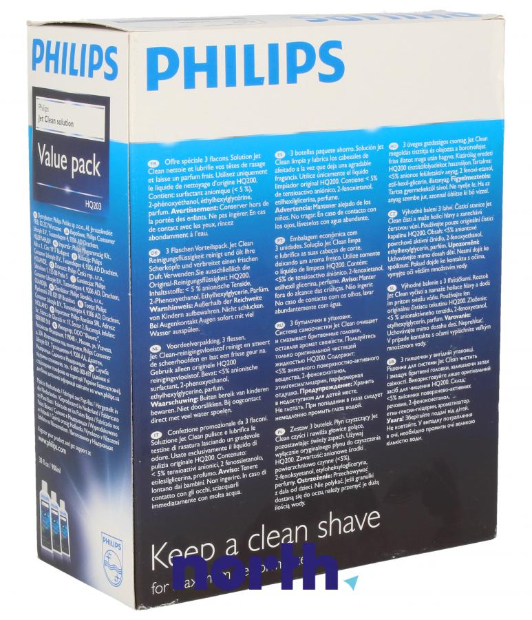 Środek czyszczący 3x300ml do golarki Philips HQ20350,1