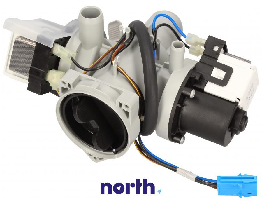 Pompa odpływowa kompletna (silnik + obudowa) do pralki LG,0