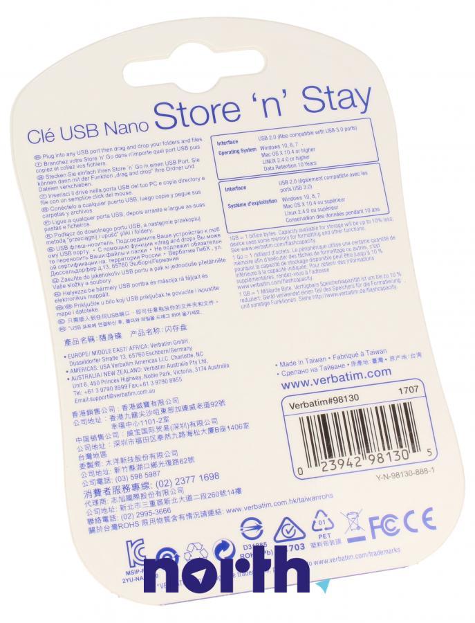 Pendrive USB 2.0 VERBATIM `n` Stay NANO 98130,1