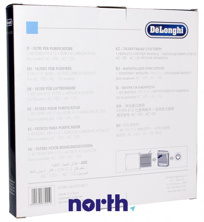 Filtr HEPA zintegrowany z filtrem węglowym do oczyszczacza powietrza DeLonghi AC100 5513710011,1