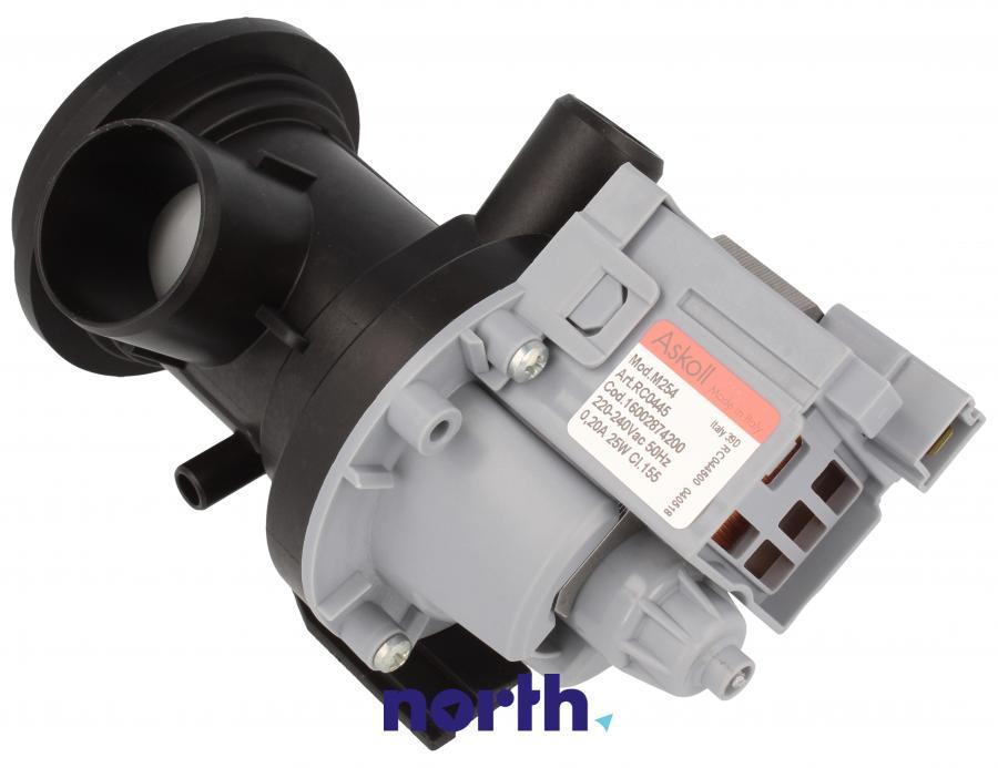 Pompa odpływowa kompletna (silnik + obudowa) do pralki Indesit 482000023447,0