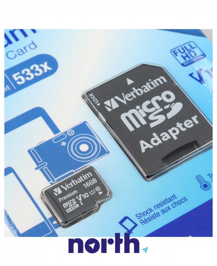 Karta pamięci microSD HC microsd hc 16GB klasa 10 do smartfona Panasonic 44082,2