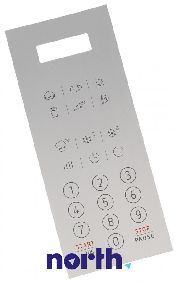 Naklejka panelu sterowania do mikrofalówki Amica 1033640,0