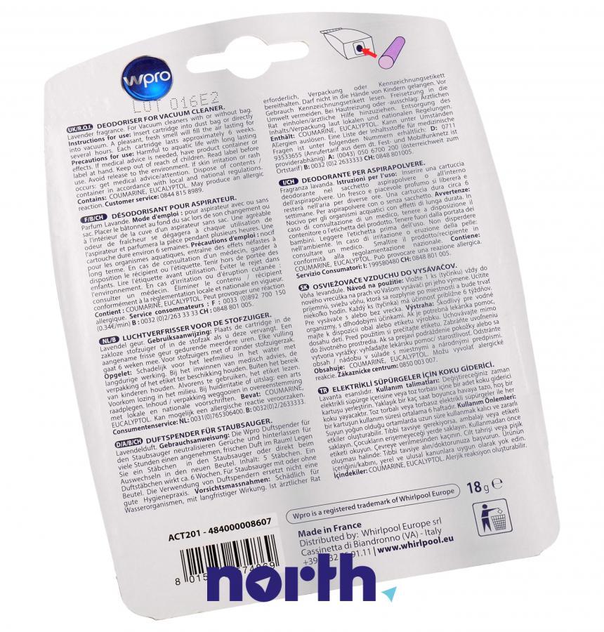 Wkład zapachowy lawendowy 10szt. Wpro ACT201 do odkurzacza,1