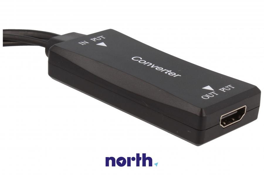 Konwerter Jack 3,5mm stereo/USB A 2.0/VGA -HDMI COM,3