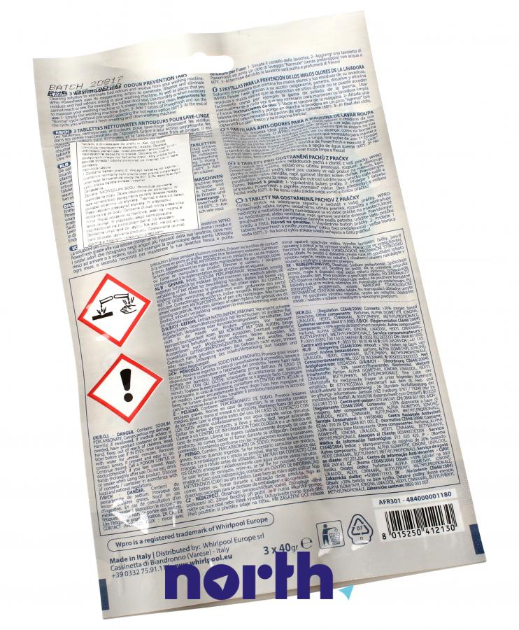 Tabletki odświeżające do pralki Whirlpool AFR301 484000001180,1