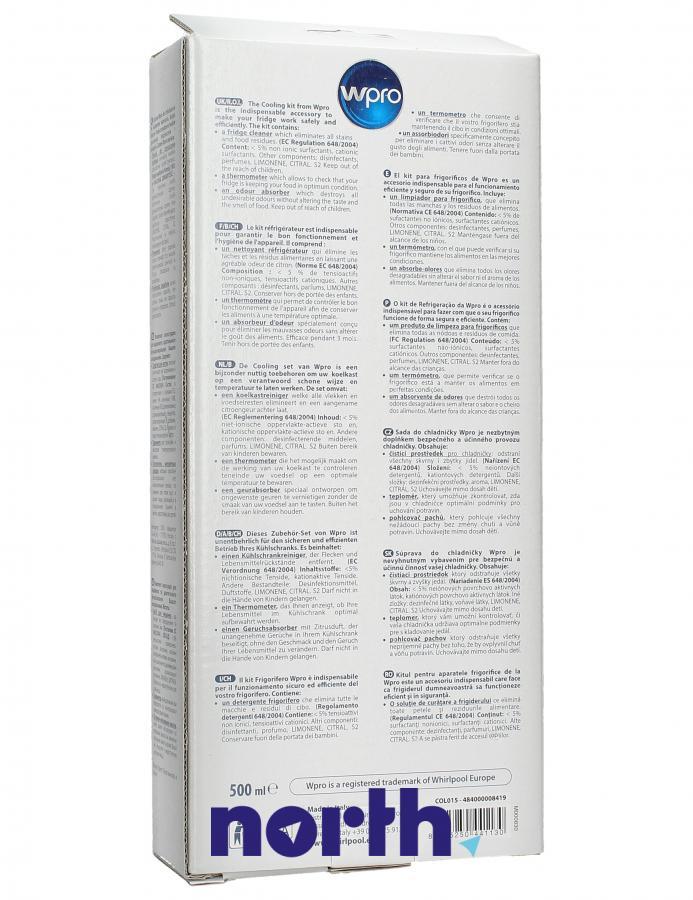 Zestaw do pielęgnacji lodówki do lodówki Bauknecht COL015 484000008419,1