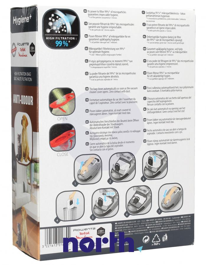 Worki Hygiene+ Anti-Odour do odkurzacza Rowenta ZR200720 4szt.,1