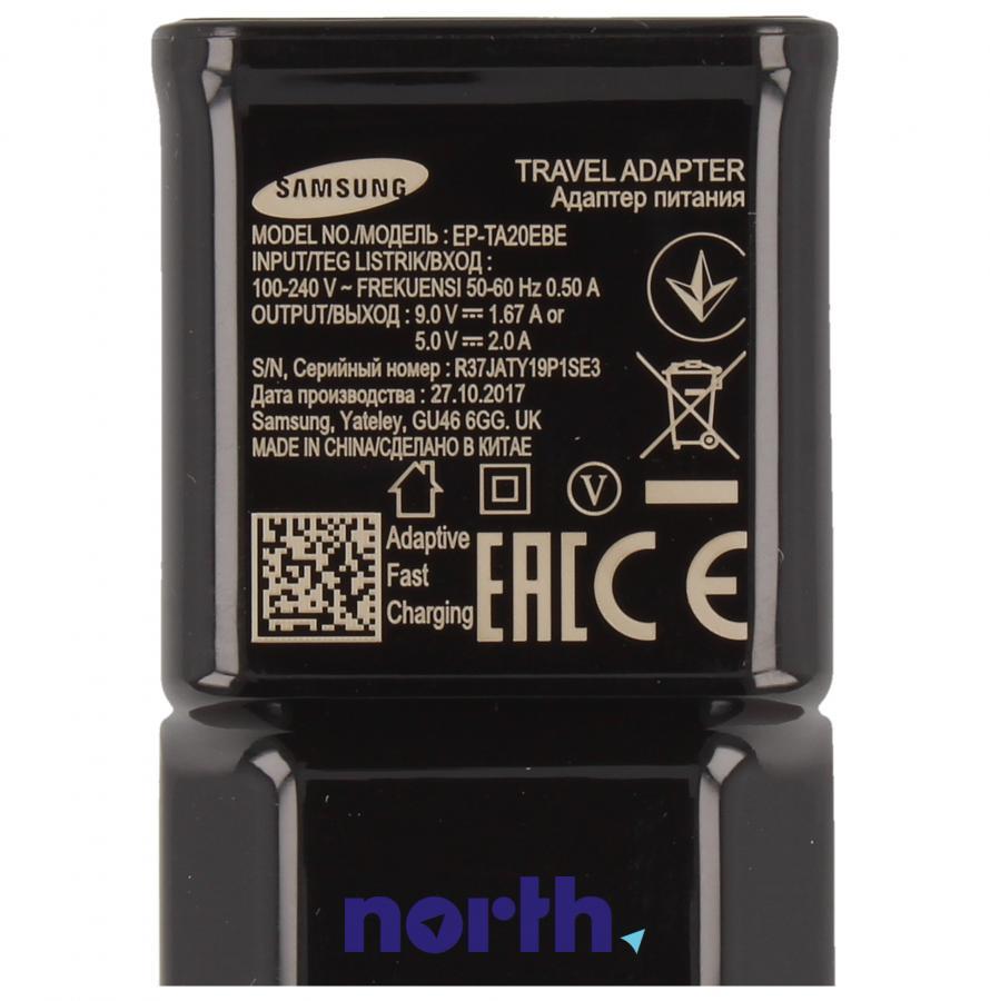 Ładowarka sieciowa USB z kablem do smartfona Samsung EP TA20E EPTA20EBECGWW