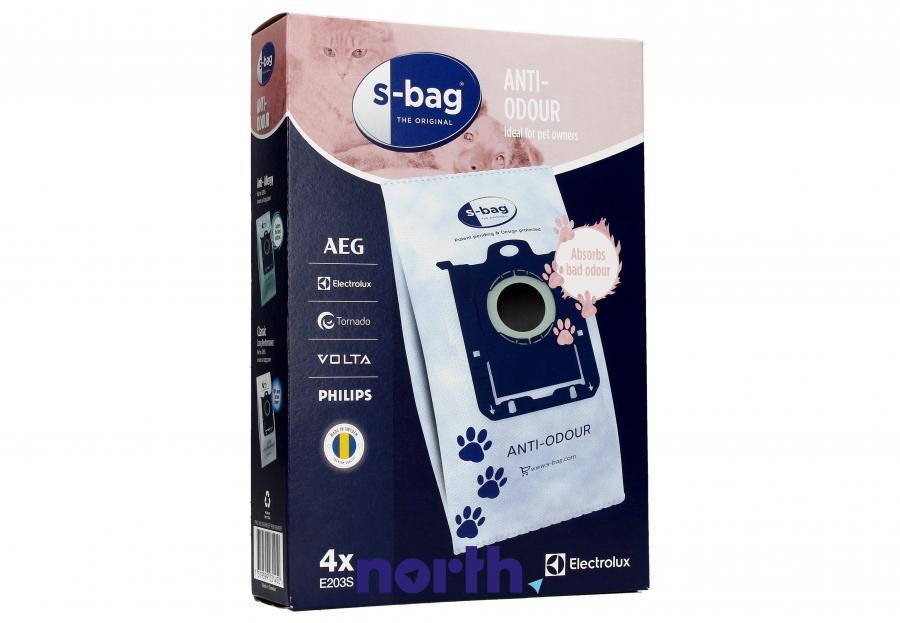 Worki S-Bag Anti-Odour E203S 4szt. do odkurzacza Electrolux,0