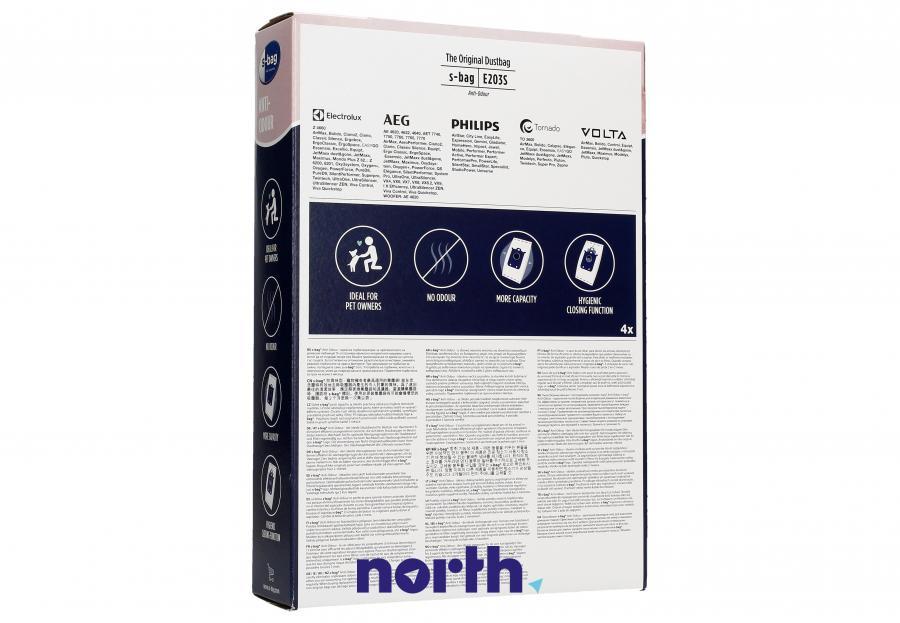 Worki S-Bag Anti-Odour E203S 4szt. do odkurzacza Electrolux,1