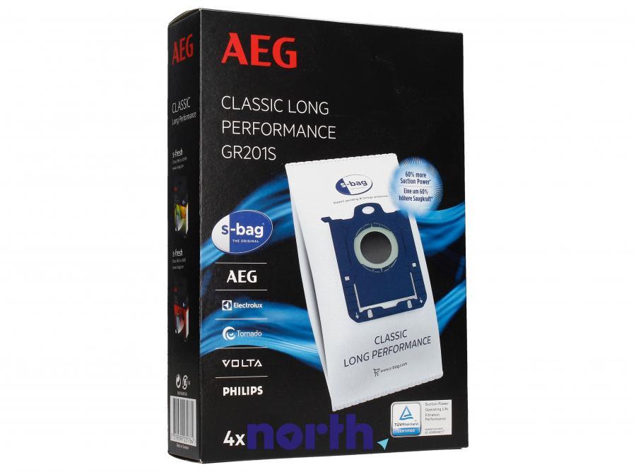 Worki S-Bag Classic Long Performance GR201S 4szt. do odkurzacza Electrolux,0