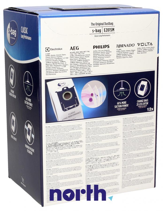Worki S-Bag Classic Long Performance E201SM 12szt. do odkurzacza Electrolux,1