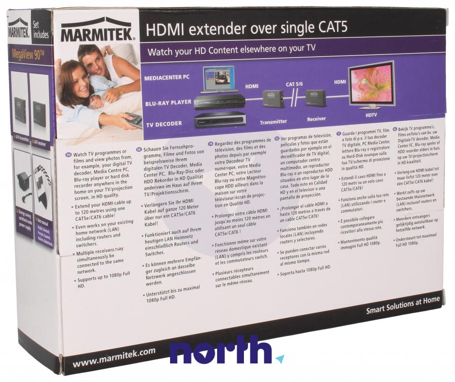 Transmiter + odbiornik sygnału HDMI 08314,1